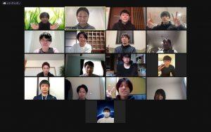 杉山幹先生によるオンラインセミナーの集合写真